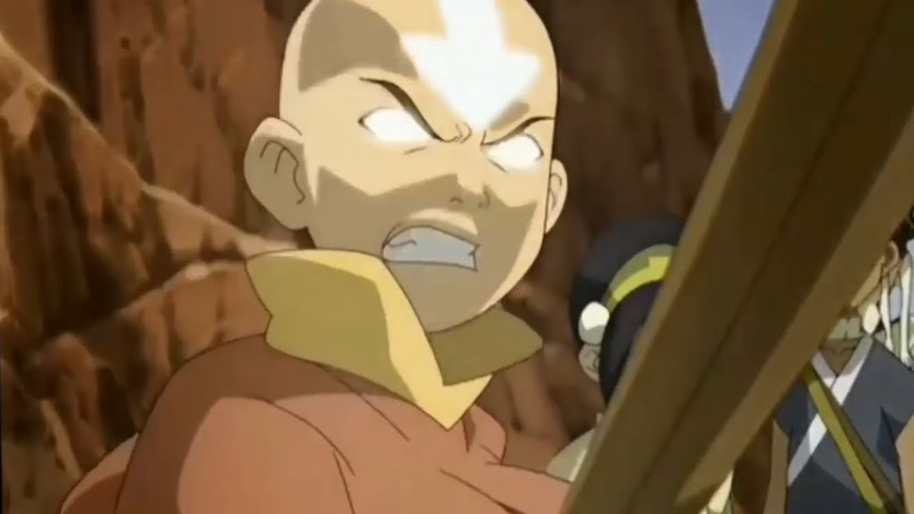 Download Aang goes Avatar State Over Loosing Appa In The Desert