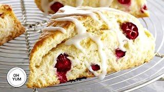 How To Make Amazing Lemon Cranberry Scone!