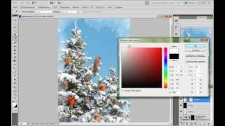 Урок Photoshop - Коллаж-открытка к Новому году