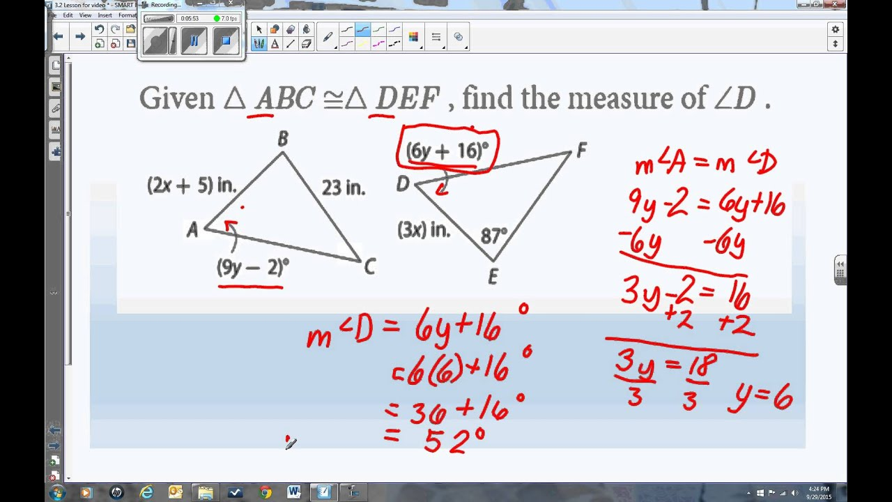 worksheet Congruent Figures Worksheet 3 corresponding parts of congruent figures are youtube congruent