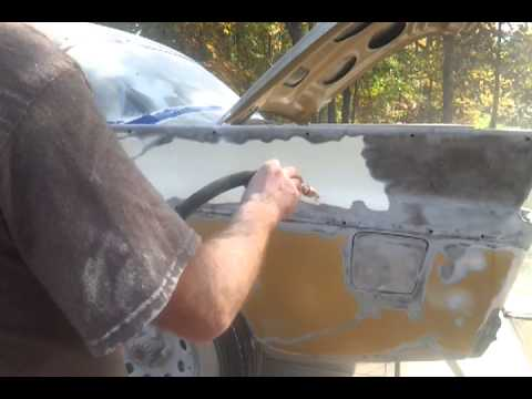 Soda blasting with harbor freight 40lb sand blaster with