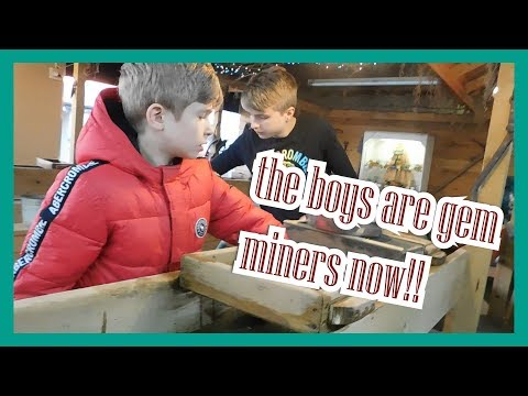 Gem Mining At Old Smoky Gem Mine #smokymountains #gatlinburg