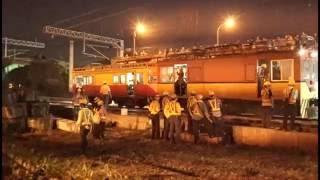 20161016 Taiwan Taichung ,railway elevated working at night  鐵路高架換軌工程