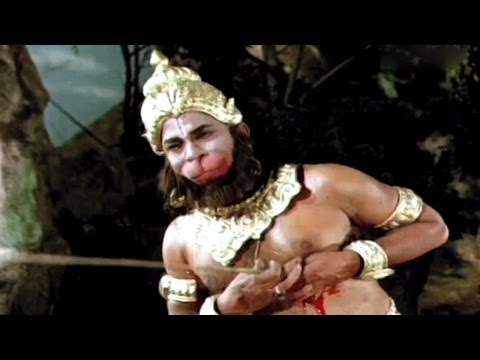 Sampoorna Ramayanam Action Scenes - War Between Vali And His Brother Rama Killed Vali - Shobhan Babu