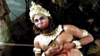 Sampoorna Ramayanam Action Scenes - War Between Vali And His Brother Rama Killed Vali - Shobhan Babu