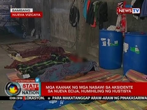 SONA: Mga kaanak ng mga nasawi sa aksidente sa Nueva Ecija, humihiling ng hustisya