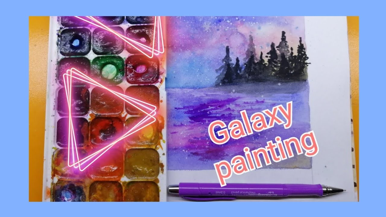 Galaxy painting #7🎨 with watercolor