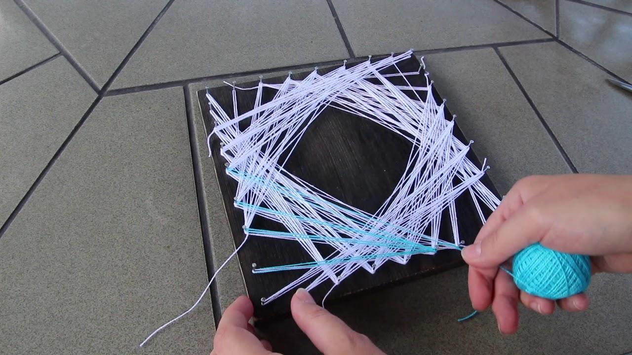 String Art Improwizacja 20x20