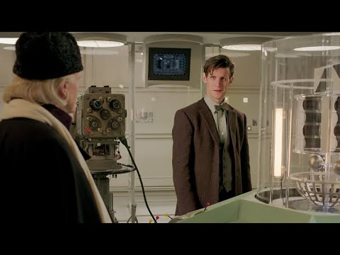 Hartnell Passes TARDIS over to Troughton Matt Smith Cameo  An Adventure in Space and Time  BBC