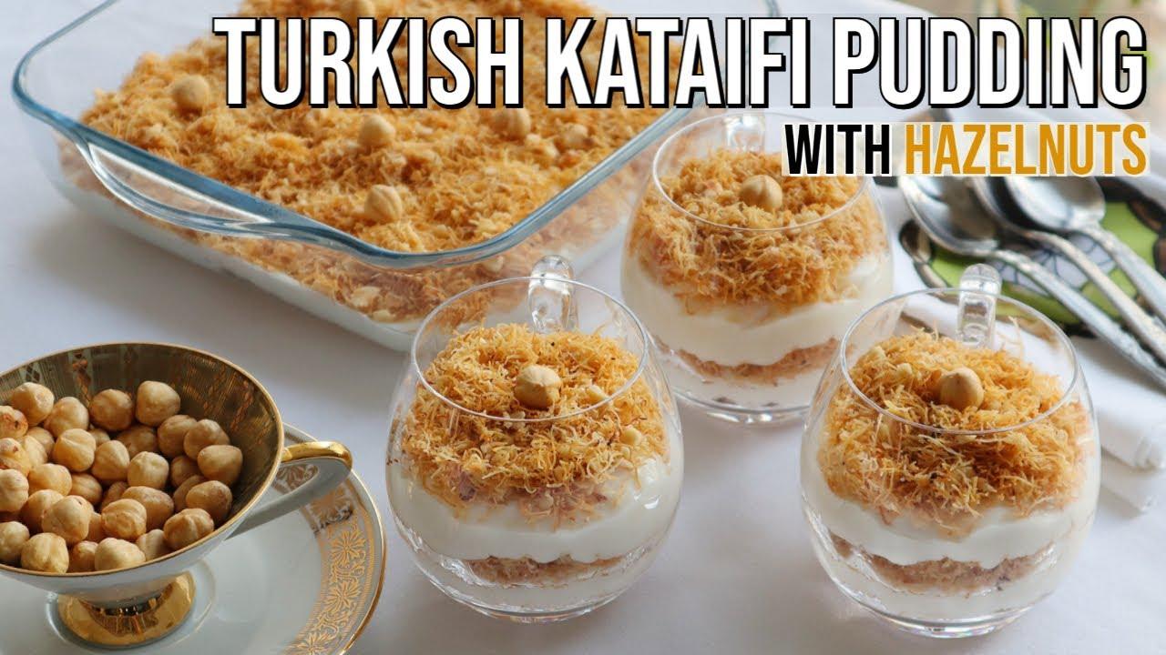 Turkish Pudding With Kataifi & Hazelnuts! Crunchy And Creamy