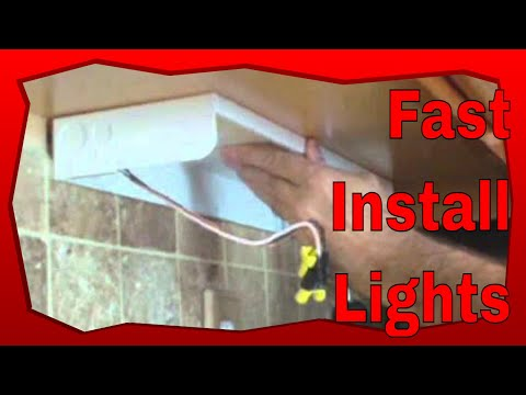 How to Install an Under Cabi Lighting  YouTube