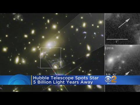 Hubble Spots Star 5 Billion Light Years Away