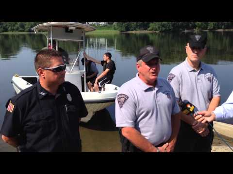 Massachusetts State Police and Environmental police  water and boating safety demonstration
