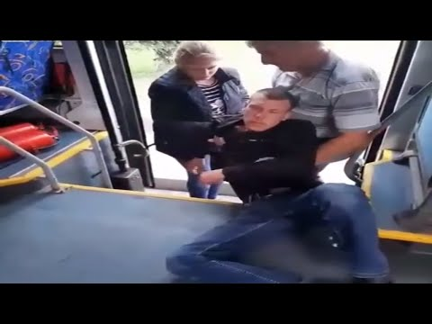 None - VIDEO: Guy Is So Drunk, Slaps & Headbutts Against Bus Window Don't Wake Him