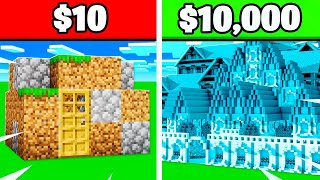 $10 House Vs $10,000 House MINECRAFT CHALLENGE!