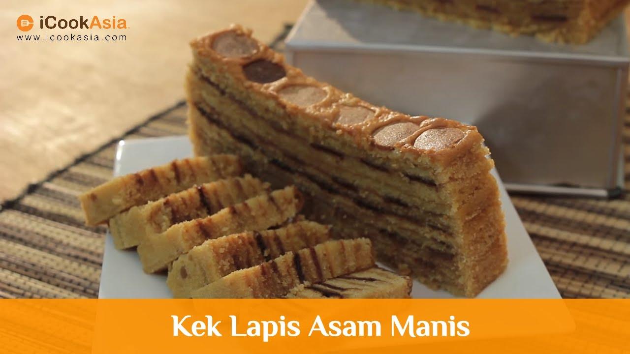 Kek Lapis Asam Manis Try Masak Icookasia Resepi Ramadan Hari Raya