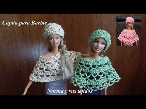 Capita para barbie ( practicando el crochet) - YouTube