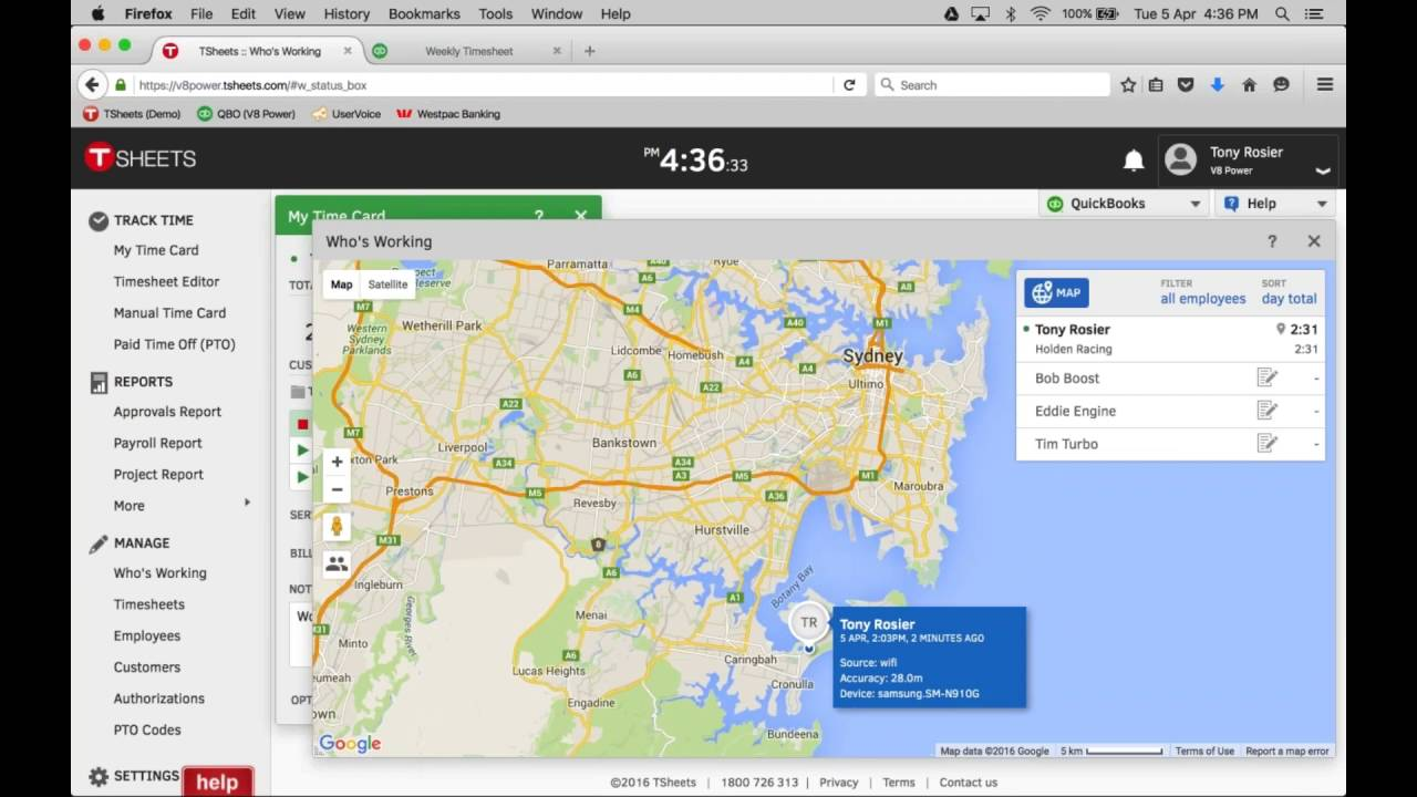 TSheets –Time Tracking for QuickBooks | AUS - YouTube
