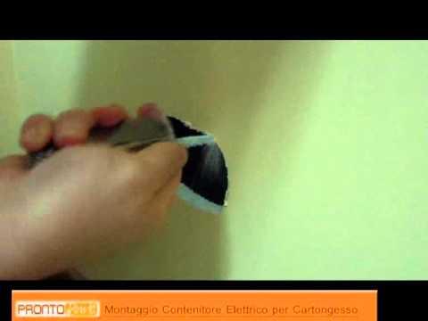 Installare contenitore elettrico youtube for Cartongesso youtube