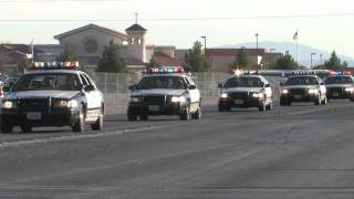 Over 400 Las Vegas Police Cars Funeral Procession