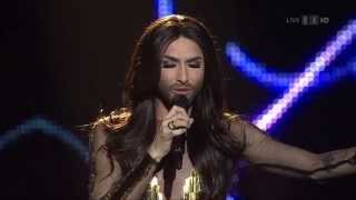 Conchita Wurst Eurovision Song Contest - National Swiss Final 2015 (real HD) - Entscheidungsshow