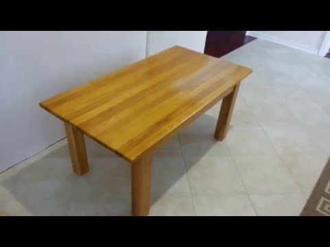 Making wooden coffee table