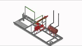 3D Fire Pump House Animation