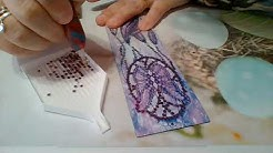 Je confectionne un marque page diamonds painting de A à Z avec encollage