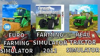 MOBILNY POJEDYNEK - Euro Farm Simulator VS Farming Simulator 2012 VS Real Tractor Farming Simulator!
