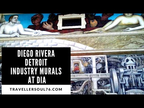Detroit industry murals by diego rivera at dia youtube for Enjoy detroit mural