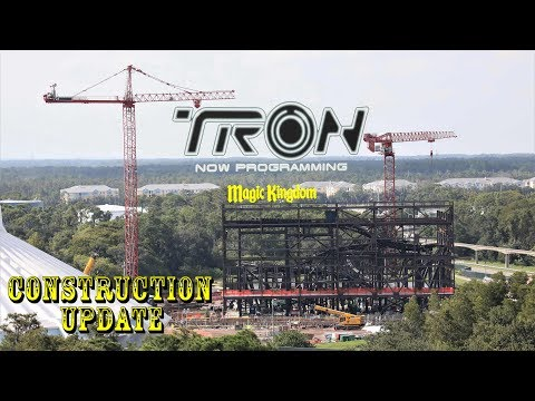 Tron Roller Coaster At Magic Kingdom Construction Update 9.8.19 Getting Ready To Build Again!