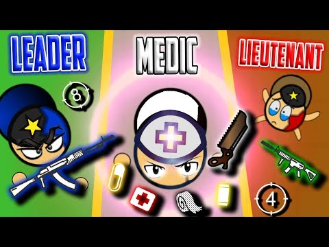 LEADER Vs MEDIC Vs LIEUTENANT! Surviv.io 50 Vs 50 Battle Royale Best Moments!