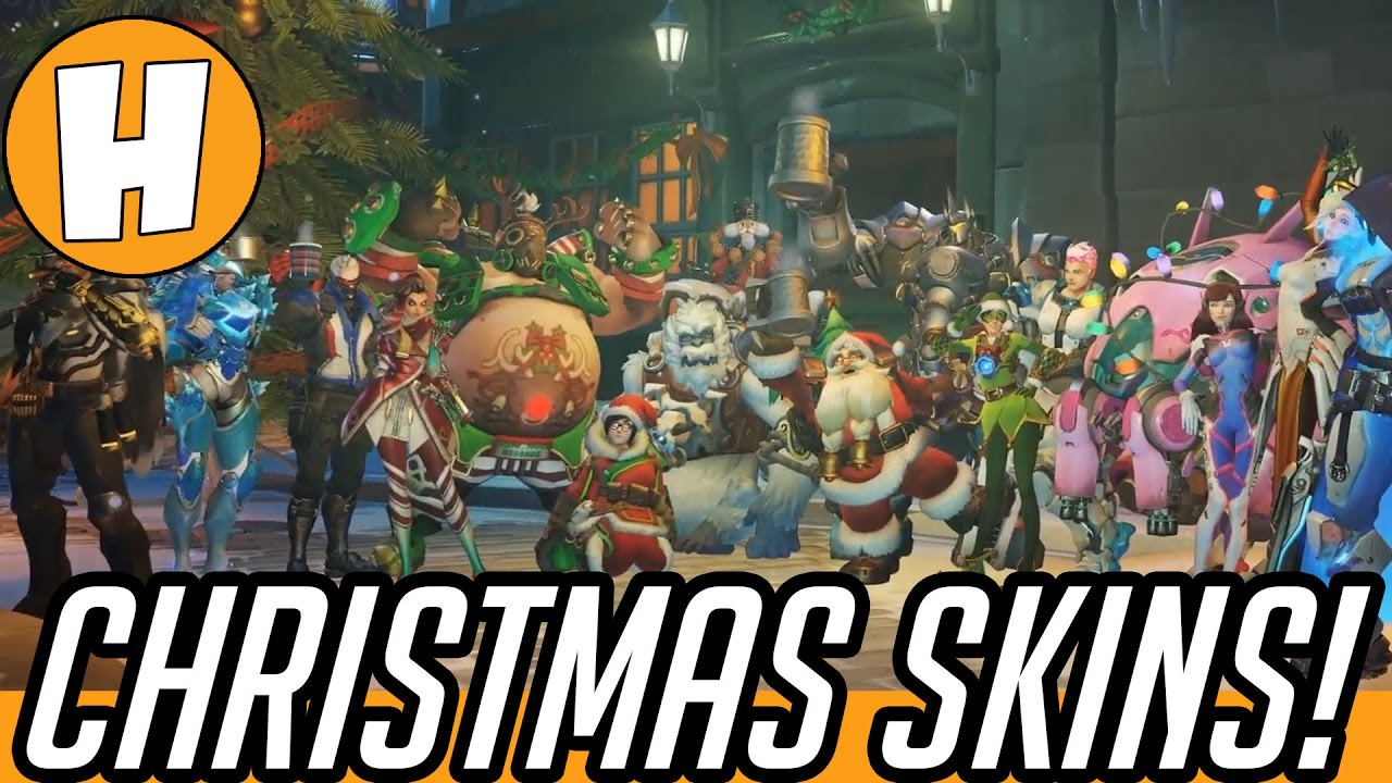 ALL Overwatch Christmas Loot Items! (Skins, Emotes, Voicelines ...
