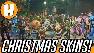 ALL Overwatch Christmas Loot Items! (Skins, Emotes, Voicelines, Sprays + More) - Winter Wonderland