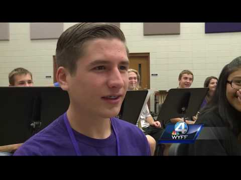 Walhalla High School Band Director Christopher Udell nominated for a Golden Apple Award