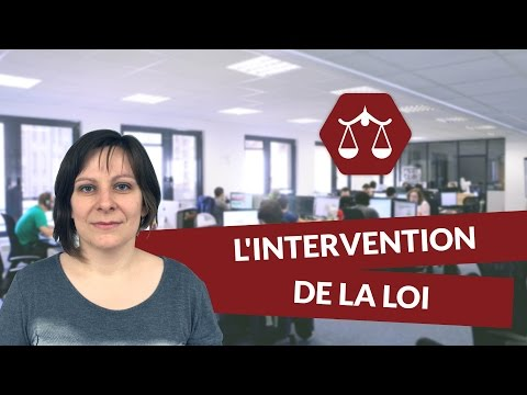 L'intervention de la loi - Droit - digiSchool