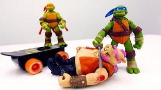 Черепашки Ниндзя: Микеланджело схватили Бибоп и Рокстеди!