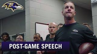 John Harbaugh's Locker Room Speech After Beating Buffalo Bills | Baltimore Ravens
