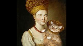ТОЛСТЫЙ  КОТ В КОКОШНИКЕ  с бабой, Мона Лиза и Наполеон/Fat cat - MUSA inspiration photo hudozhnika