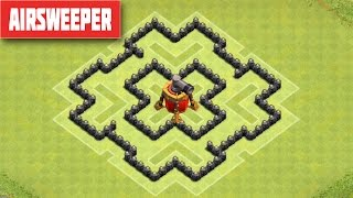 Clash of Clans TH6 DEFENSE STRATEGY BEST CoC Town Hall 6 FARMING Layout With AIRSWEEPER 2015