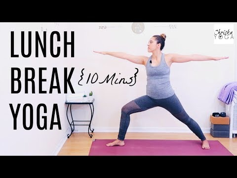 Yoga Pick Me Up  Midday Yoga Routine  10 Minute Yoga  Lunch Break Yoga  Yoga At Work