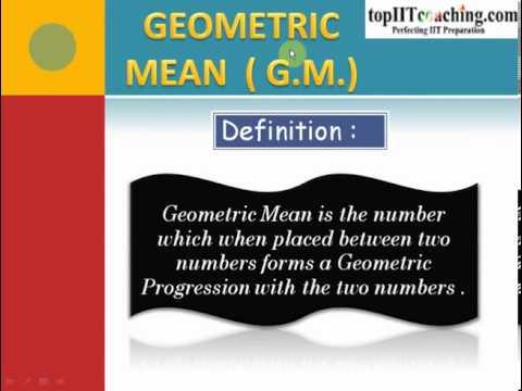 Arithmetic, Geometric and Harmonic Mean