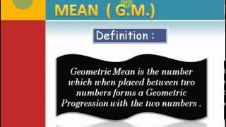 Arithmetic, Geometric and Harmonic Mean