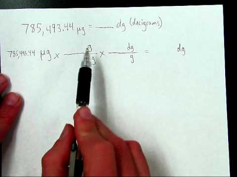Two Step Conversion Example Micrograms To Decigrams
