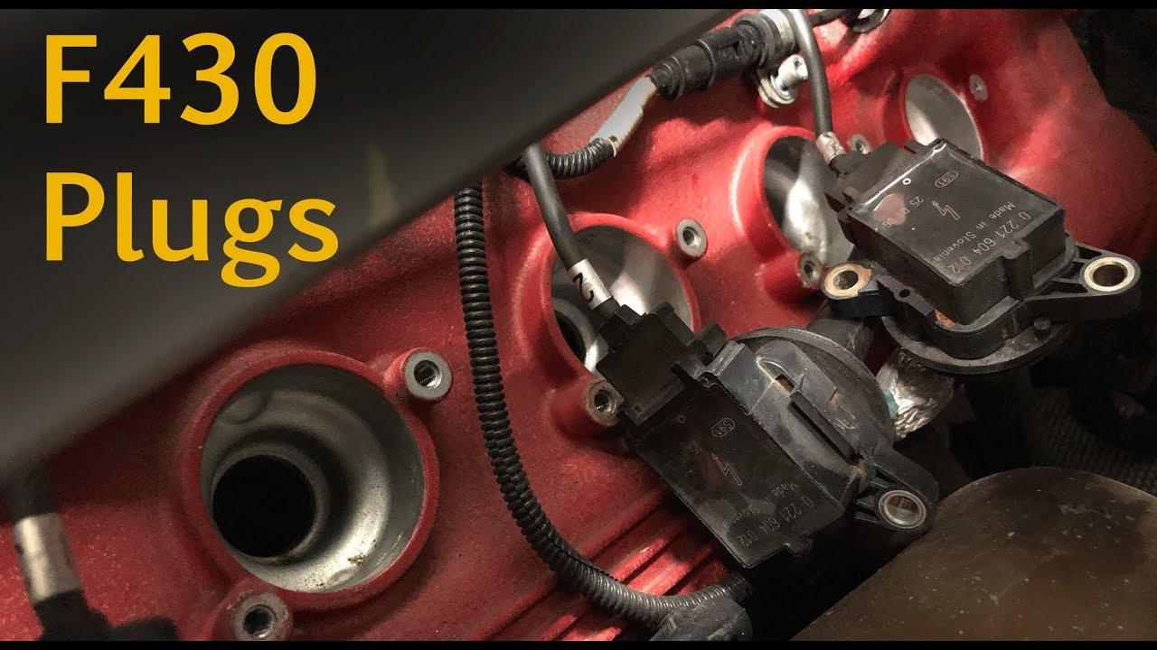 Ferrari F430 spark plug change on