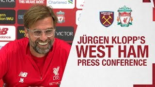 Jürgen Klopp's pre-match press conference | West Ham