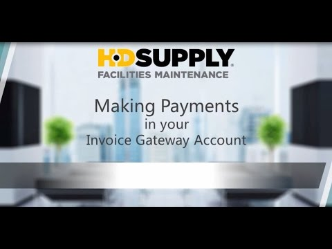 Making Payments In Your Invoice Gateway Account HD Supply - Invoice gateway