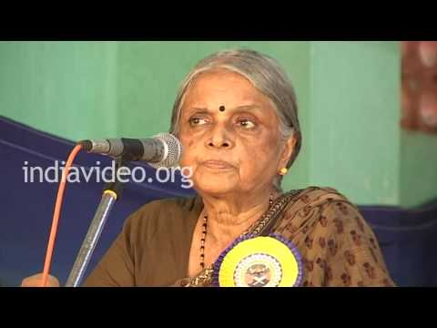 Speech by Sugathakumari in Cotton Hill School, Thiruvananthapuram