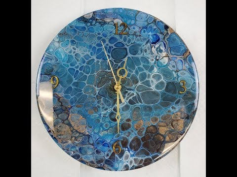 (371) FAMOWOOD RESIN Circle of Grace Wood Clock Glass & UNC & assembling clock w/ Sandra Lett 091919