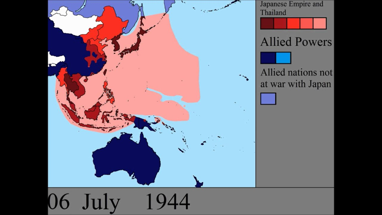Map Of Asia Pre Ww2.World War Ii In The Pacific Every Day